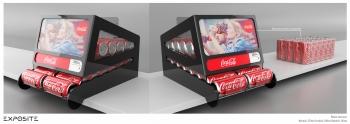 Coca cola ekspozytor naladowy na puszki